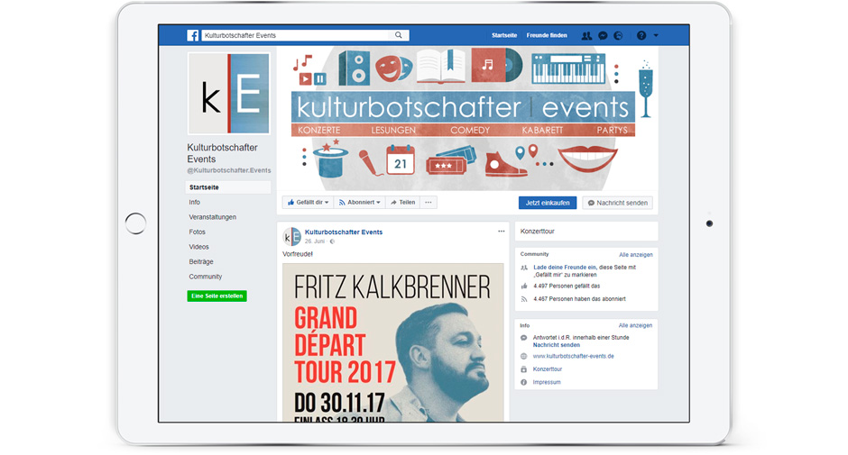 Facebook Kulturbotschafter Events