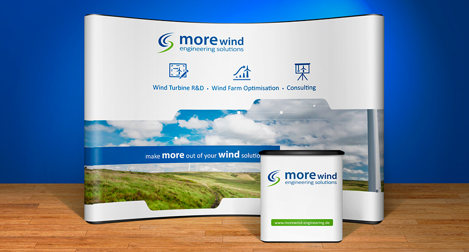 Messestand Faltdisplay Messetisch morewind engineering